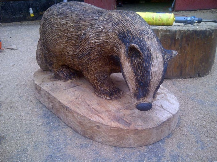 Chainsaw Carving Galleries | Badger Sculpture