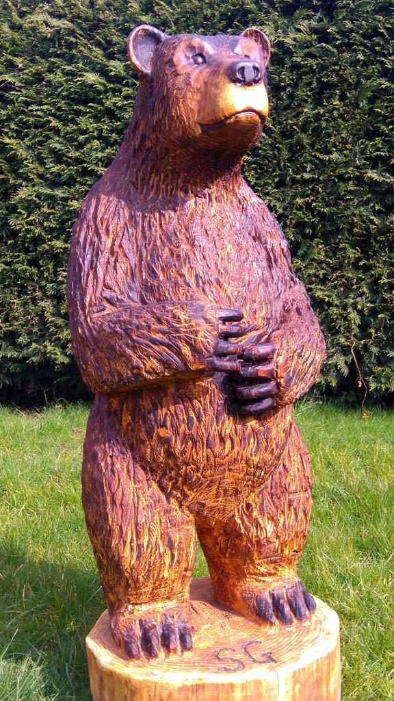 Chainsaw Sculpture Gallery | 4 foot Bear Carving