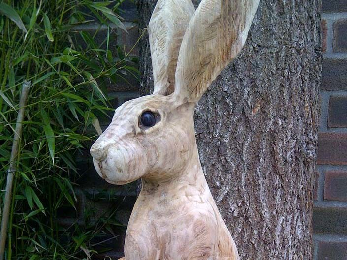 Chainsaw Carving Gallery | Hare Sculpture