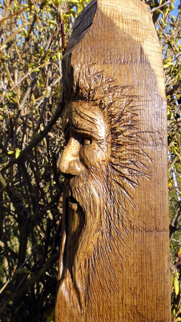 Norfolk Chainsaw Artist Gallery | Wood spirit carving side view